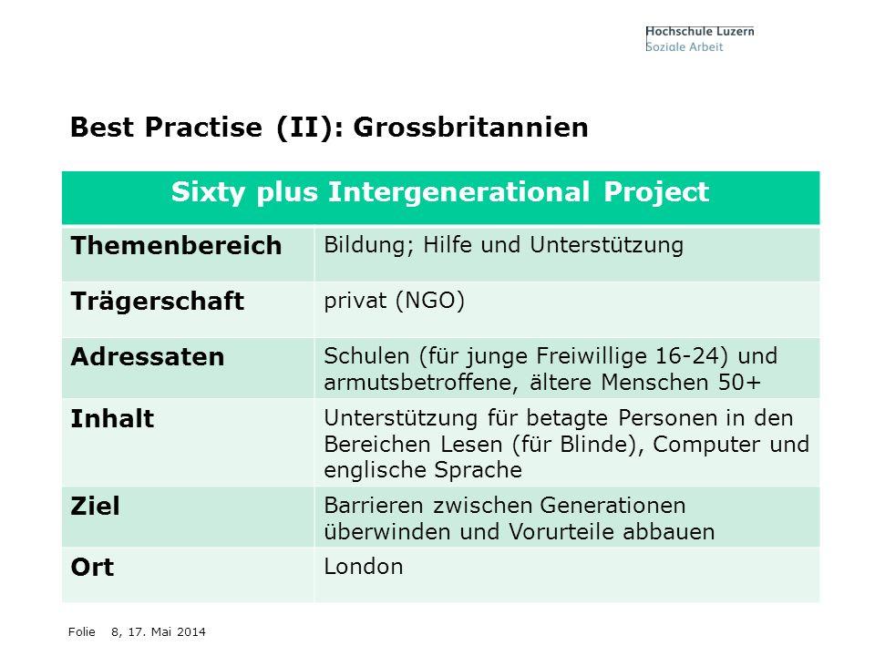 Best Practise (II): Grossbritannien