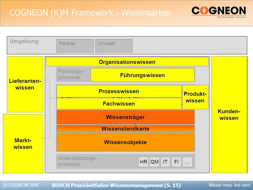 COGNEON (K)M Framework - Wissensarten