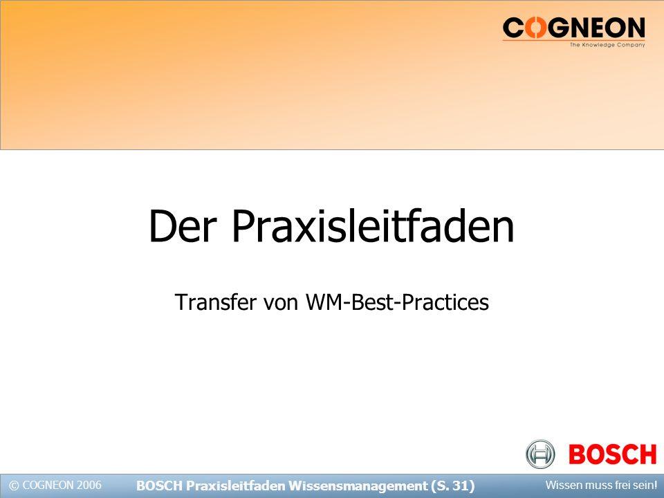 Transfer von WM-Best-Practices