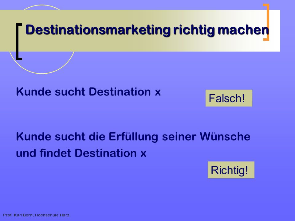 Destinationsmarketing richtig machen