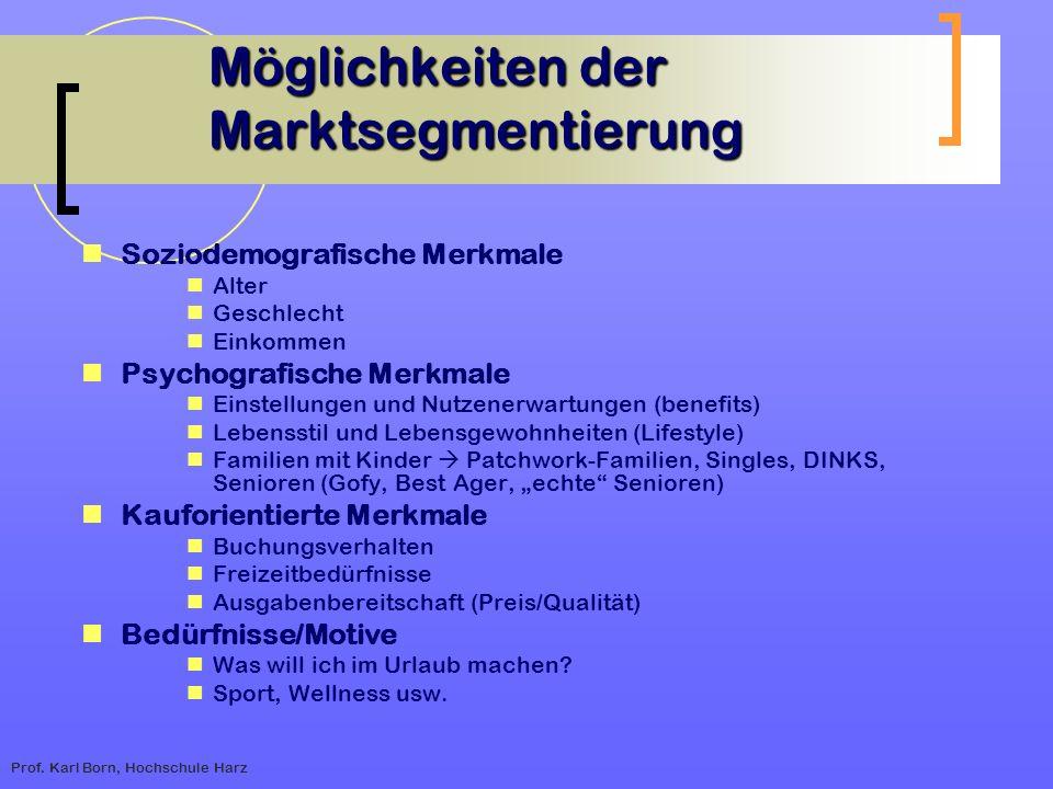 Möglichkeiten der Marktsegmentierung