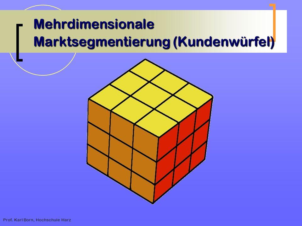 Mehrdimensionale Marktsegmentierung (Kundenwürfel)