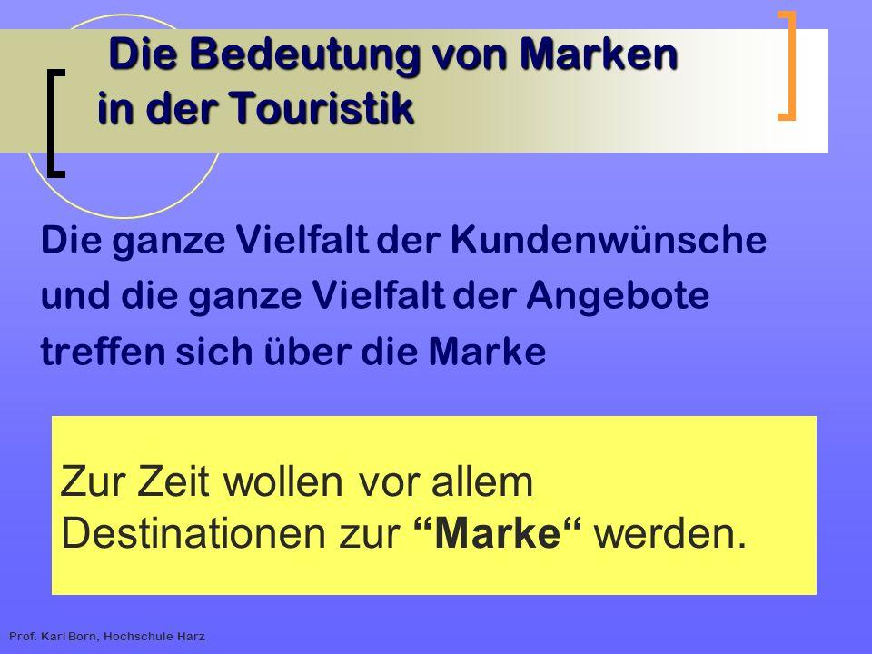 Die Bedeutung von Marken in der Touristik