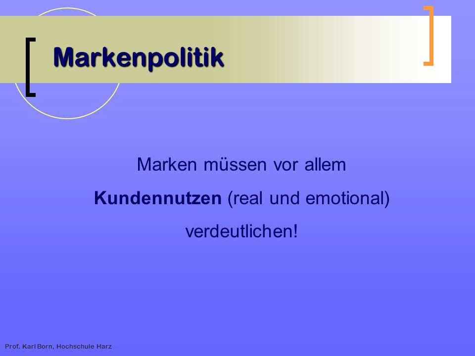 Markenpolitik Marken müssen vor allem