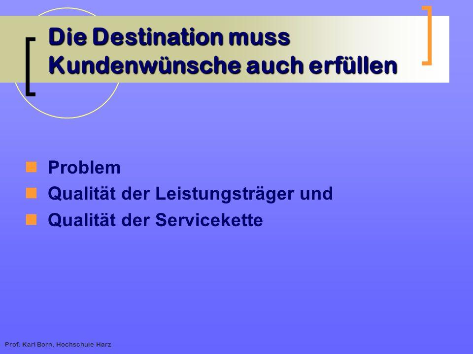 Die Destination muss Kundenwünsche auch erfüllen