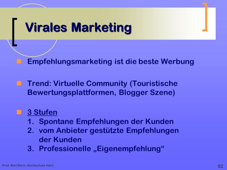 Virales Marketing Empfehlungsmarketing ist die beste Werbung