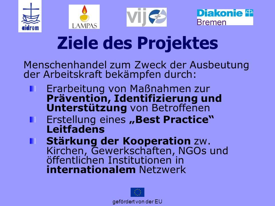 Ziele des Projektes Menschenhandel zum Zweck der Ausbeutung der Arbeitskraft bekämpfen durch: