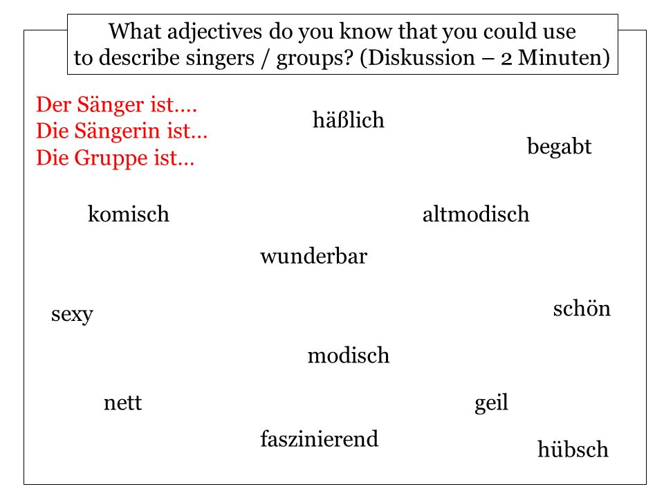 What adjectives do you know that you could use
