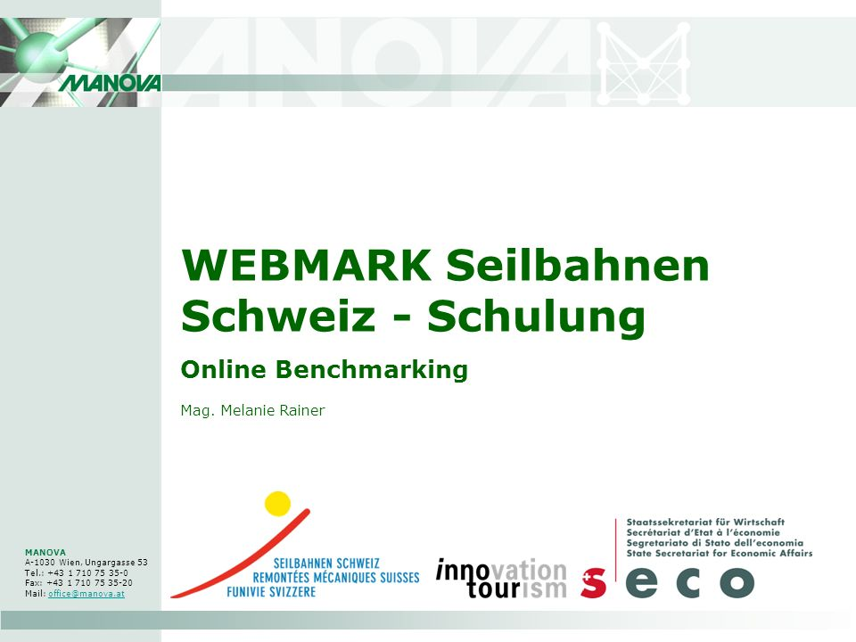 WEBMARK Seilbahnen Schweiz - Schulung