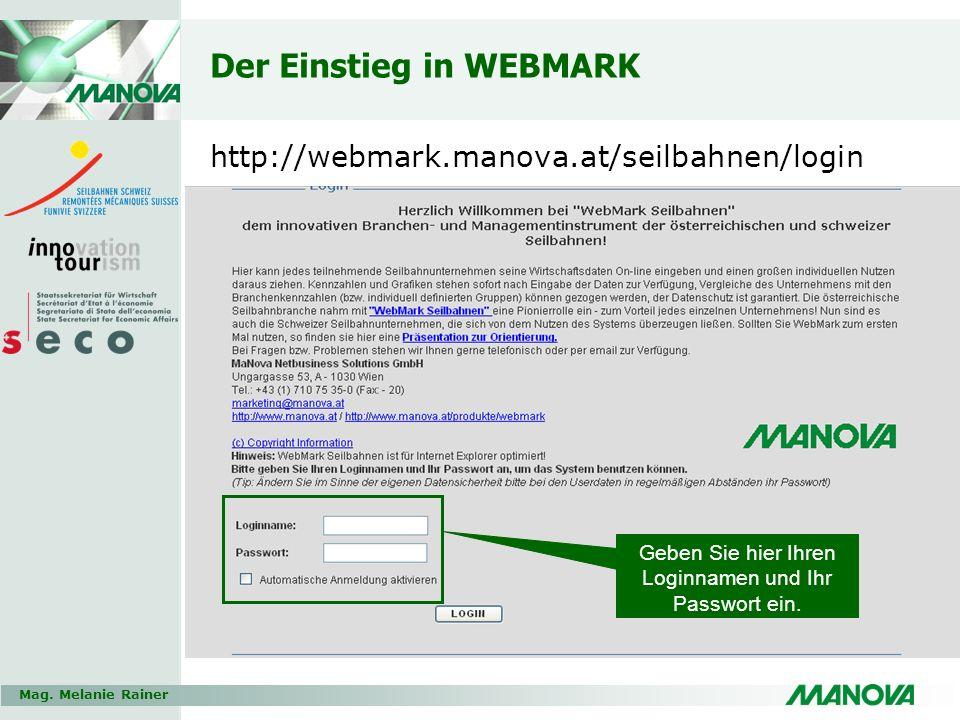 Der Einstieg in WEBMARK