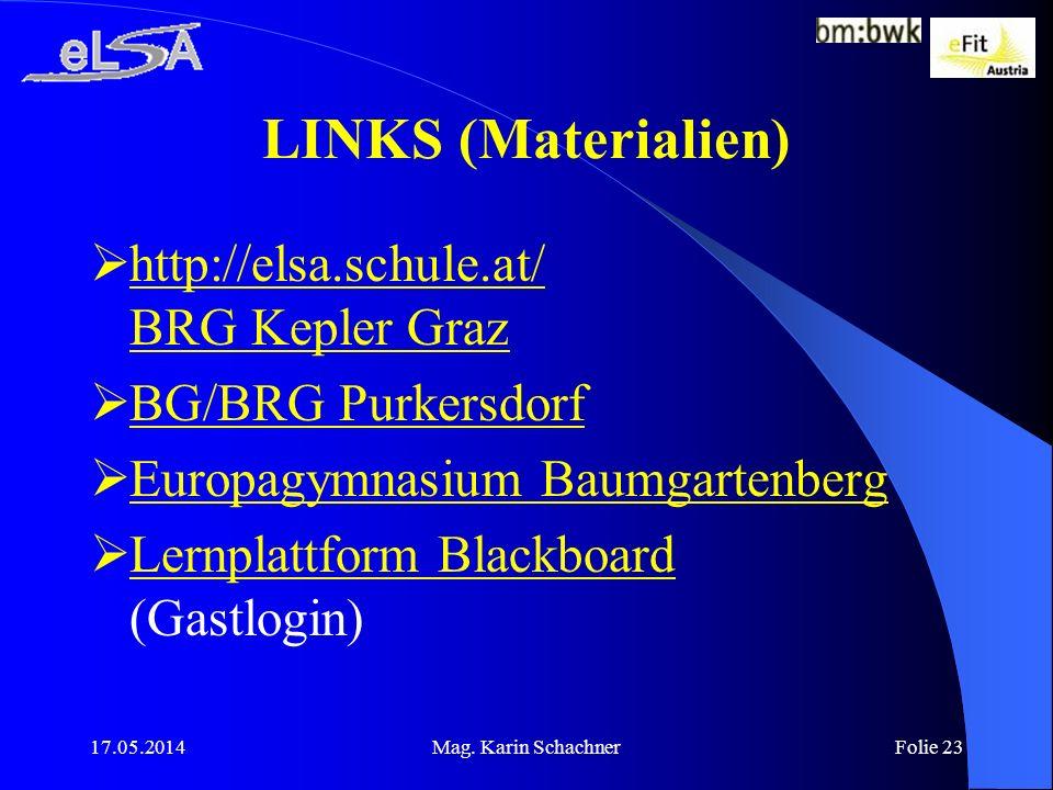 LINKS (Materialien) http://elsa.schule.at/ BRG Kepler Graz