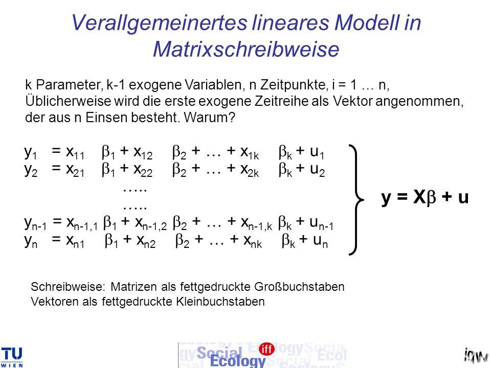 Verallgemeinertes lineares Modell in Matrixschreibweise