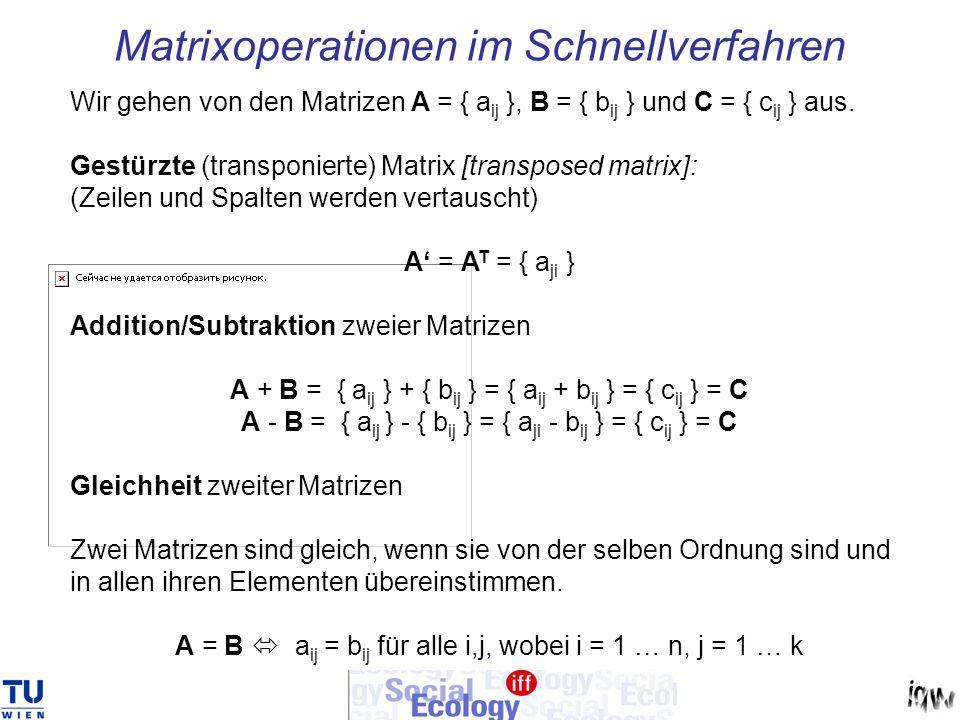 Matrixoperationen im Schnellverfahren