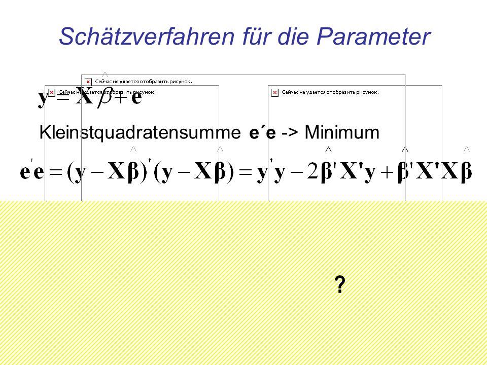 Schätzverfahren für die Parameter