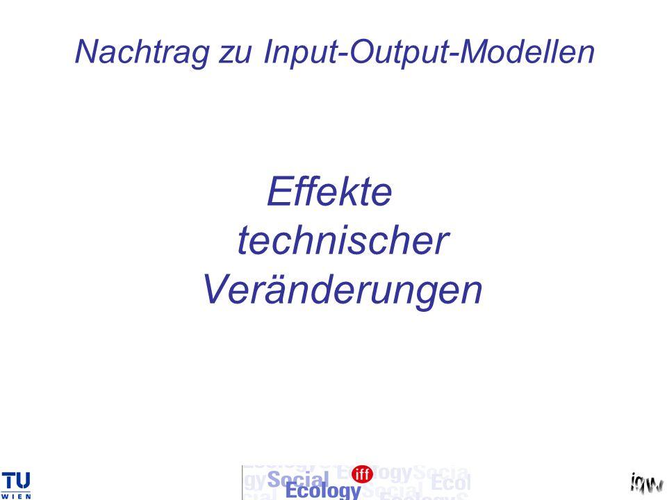Nachtrag zu Input-Output-Modellen