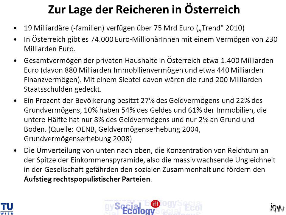 Zur Lage der Reicheren in Österreich