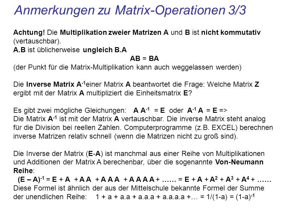 Anmerkungen zu Matrix-Operationen 3/3