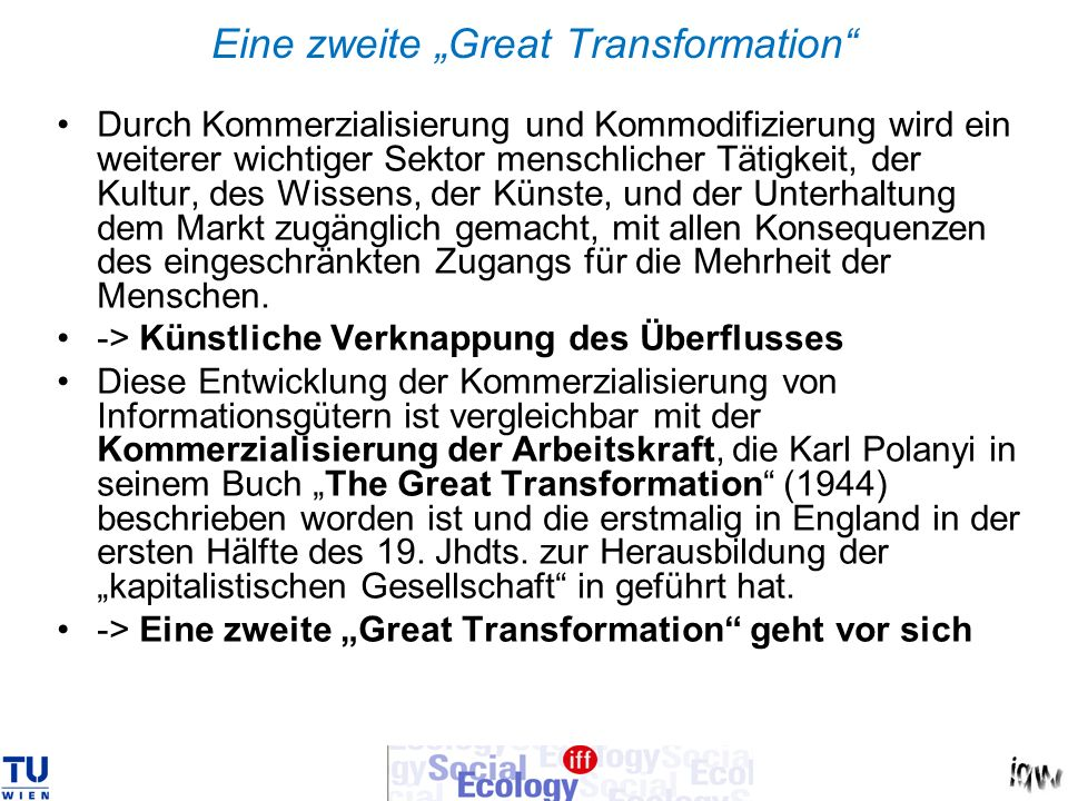 "Eine zweite ""Great Transformation"