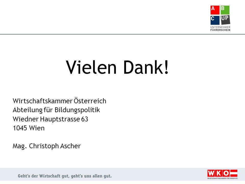 Vielen Dank! Wirtschaftskammer Österreich