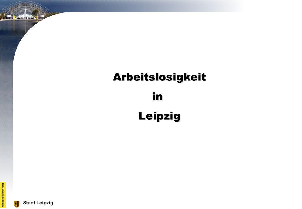 Arbeitslosigkeit in Leipzig