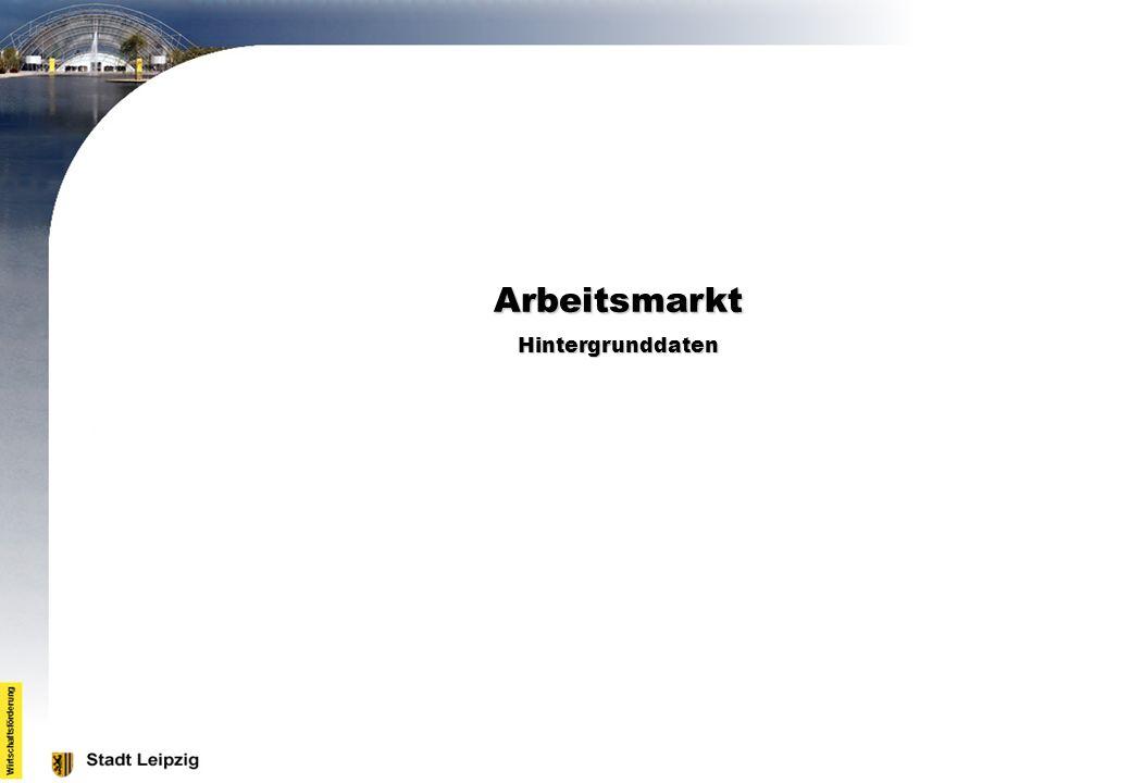 Arbeitsmarkt Hintergrunddaten
