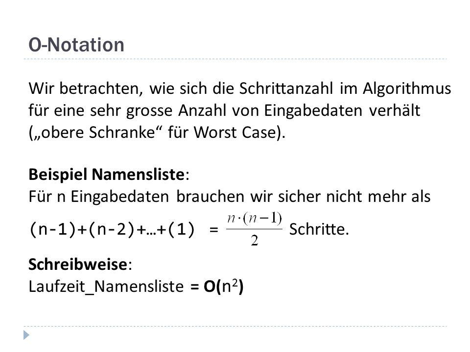 O-Notation