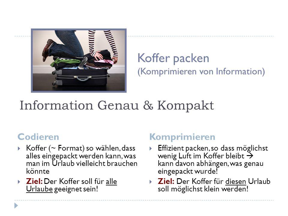 Information Genau & Kompakt