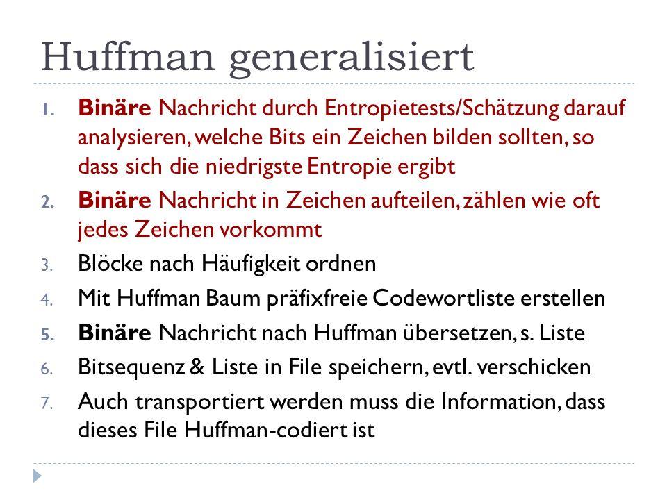 Huffman generalisiert