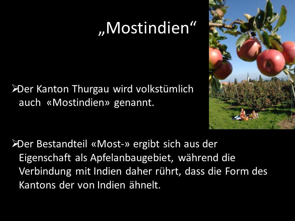 """""""Mostindien Der Kanton Thurgau wird volkstümlich"""