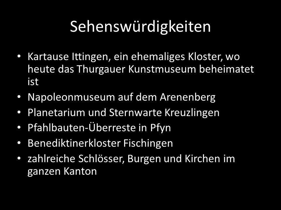 Sehenswürdigkeiten Kartause Ittingen, ein ehemaliges Kloster, wo heute das Thurgauer Kunstmuseum beheimatet ist.