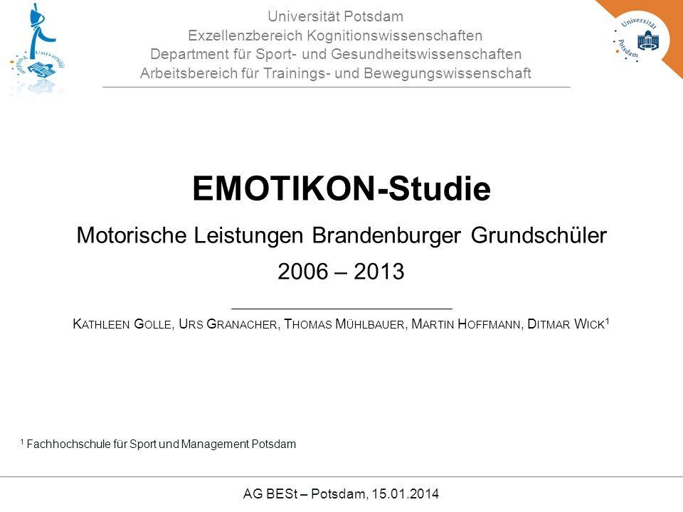 EMOTIKON-Studie Motorische Leistungen Brandenburger Grundschüler