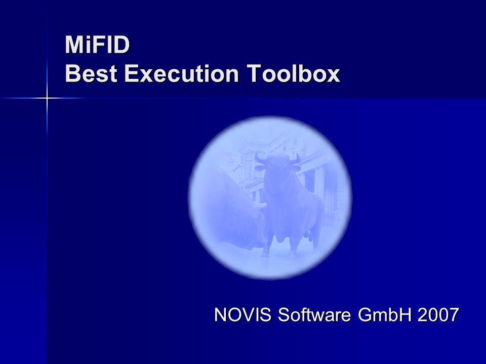 MiFID Best Execution Toolbox