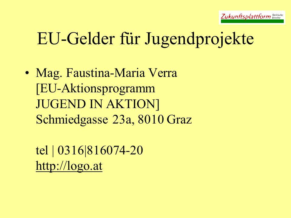 EU-Gelder für Jugendprojekte