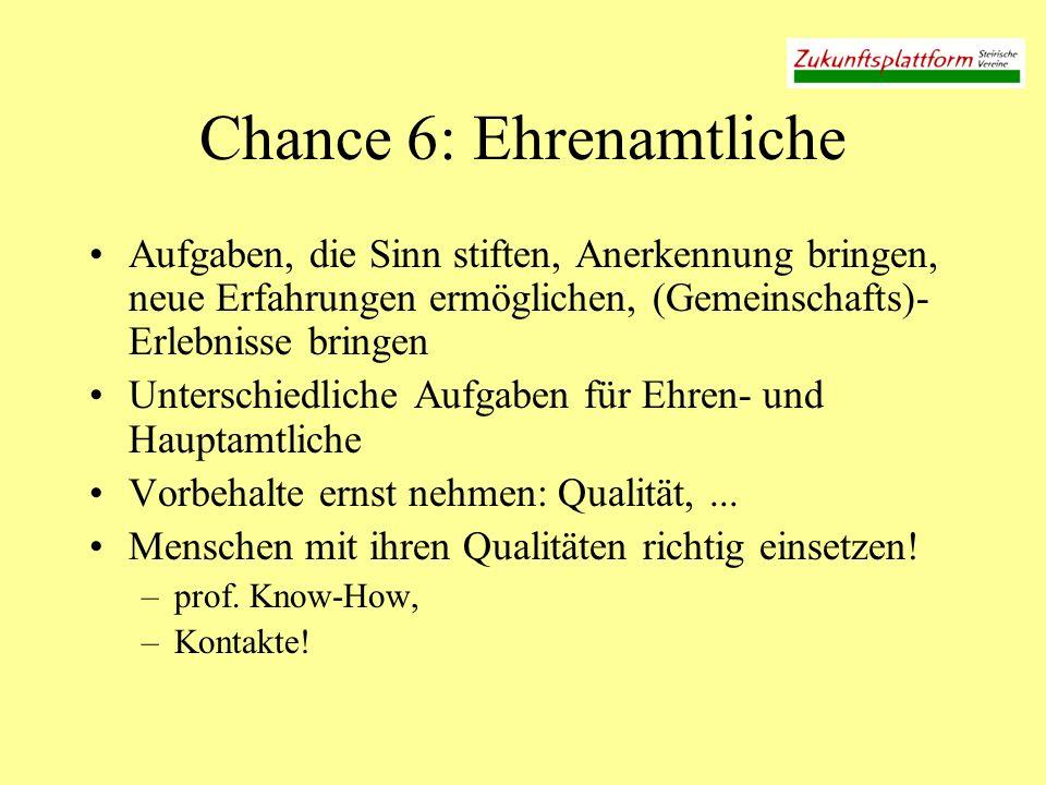 Chance 6: Ehrenamtliche