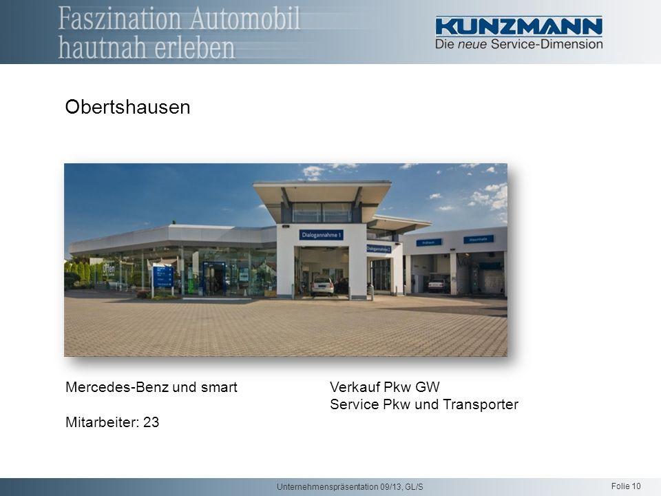 Obertshausen Mercedes-Benz und smart Verkauf Pkw GW