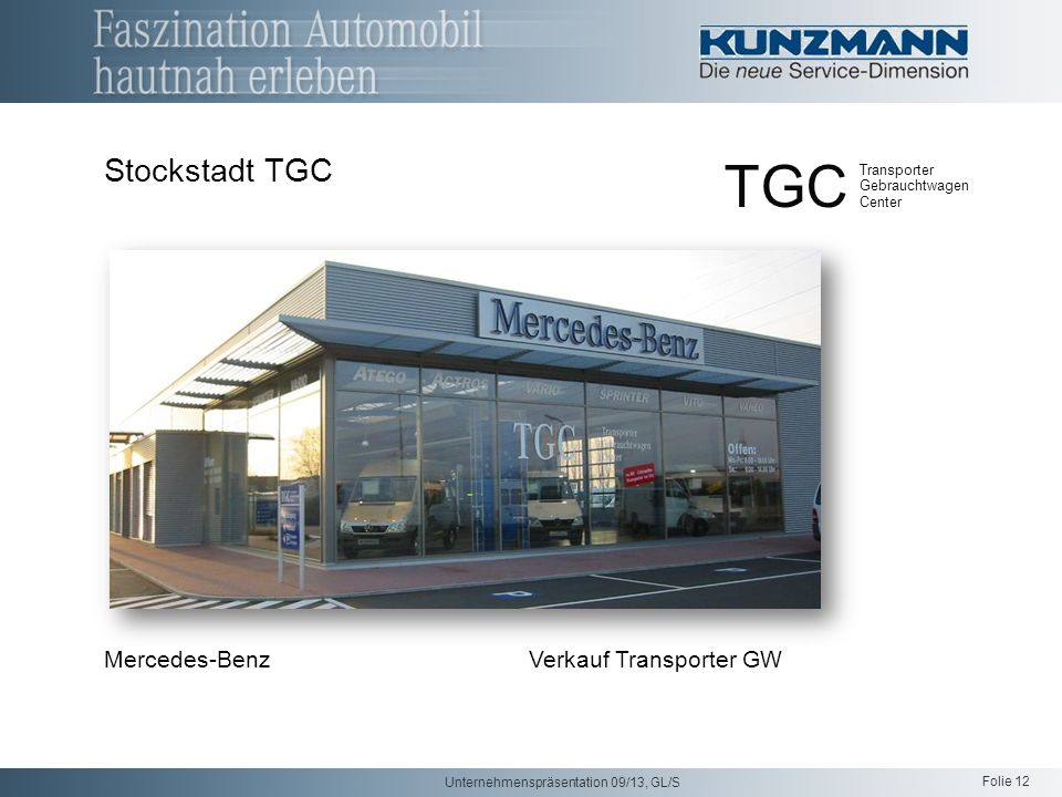 TGC Stockstadt TGC Mercedes-Benz Verkauf Transporter GW