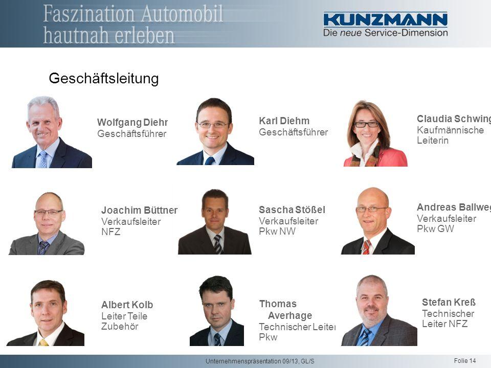 Geschäftsleitung Claudia Schwing Karl Diehm Wolfgang Diehm