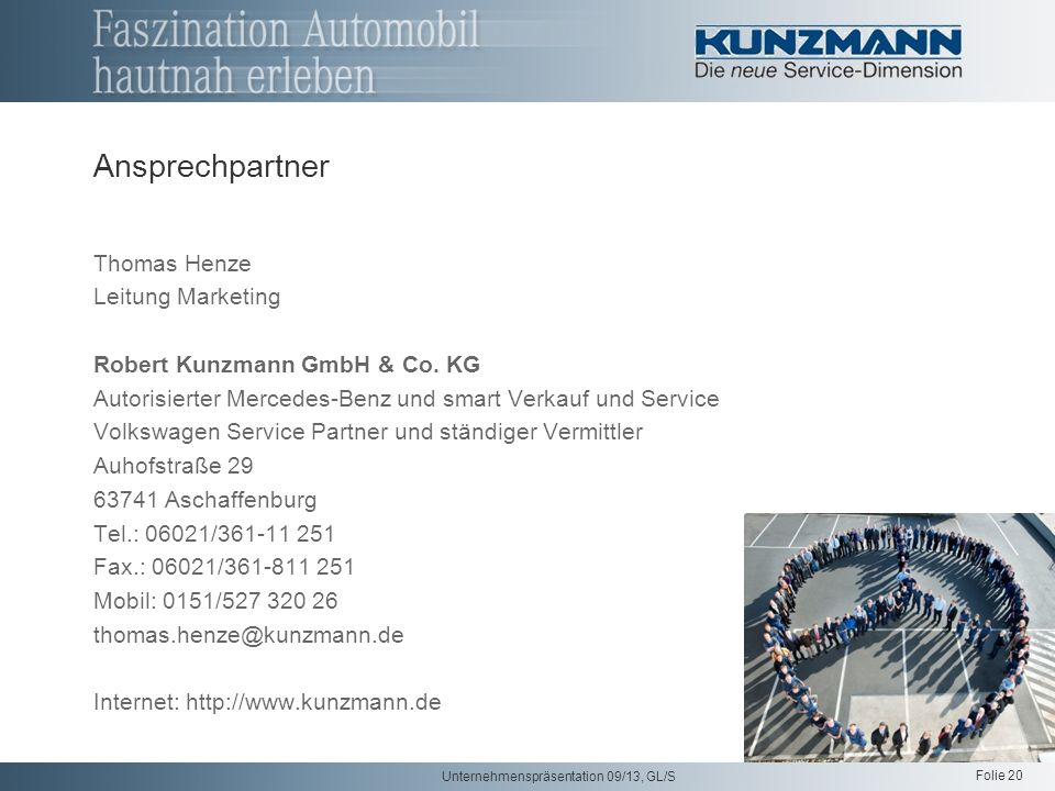 Ansprechpartner Thomas Henze Leitung Marketing