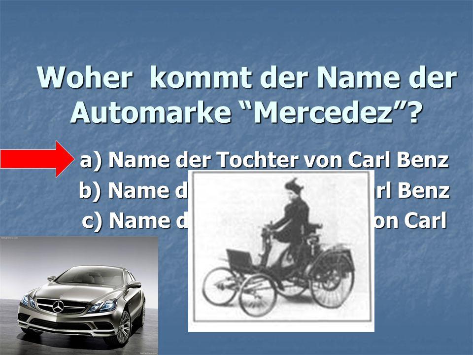 Woher kommt der Name der Automarke Mercedez