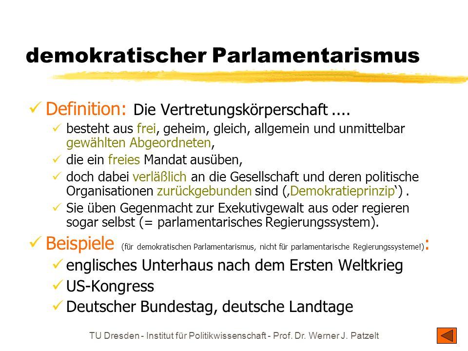 demokratischer Parlamentarismus