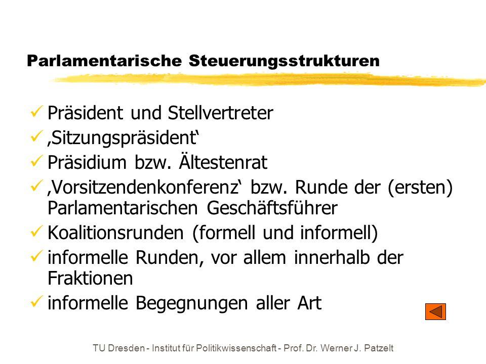 Parlamentarische Steuerungsstrukturen