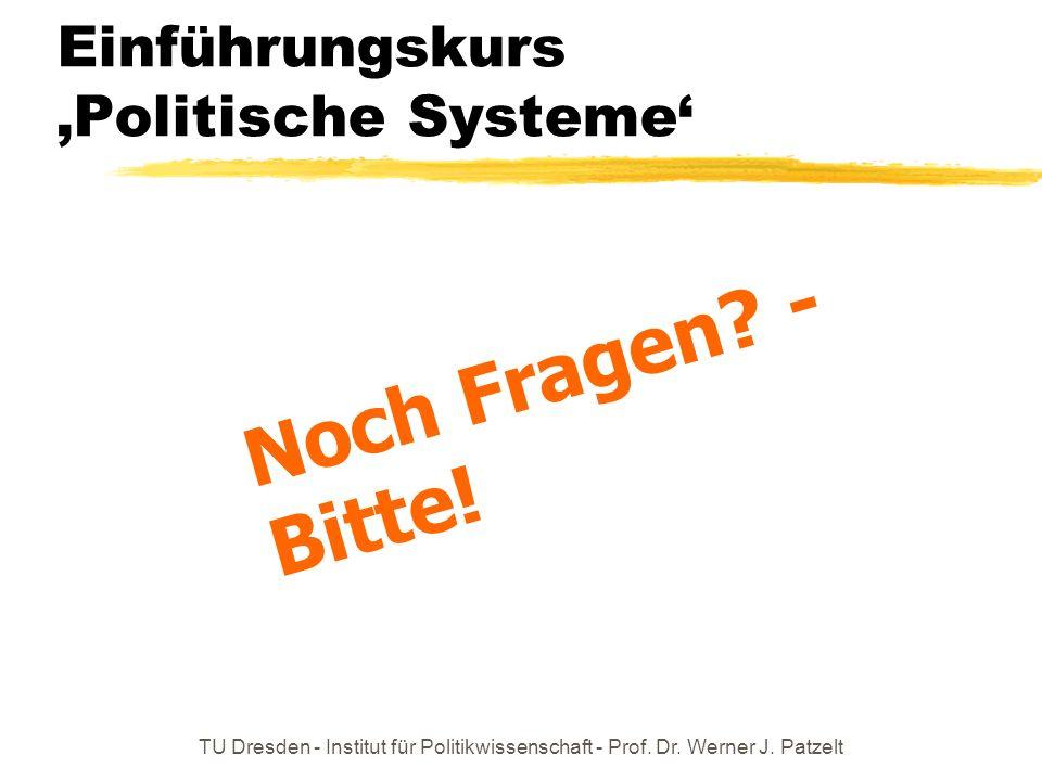 Einführungskurs 'Politische Systeme'