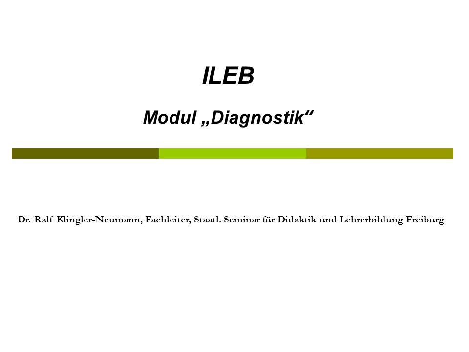 """ILEB Modul """"Diagnostik"""