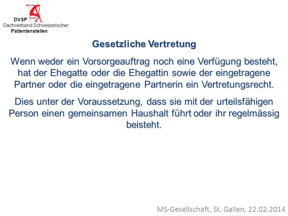 MS-Gesellschaft, St. Gallen, 22.02.2014