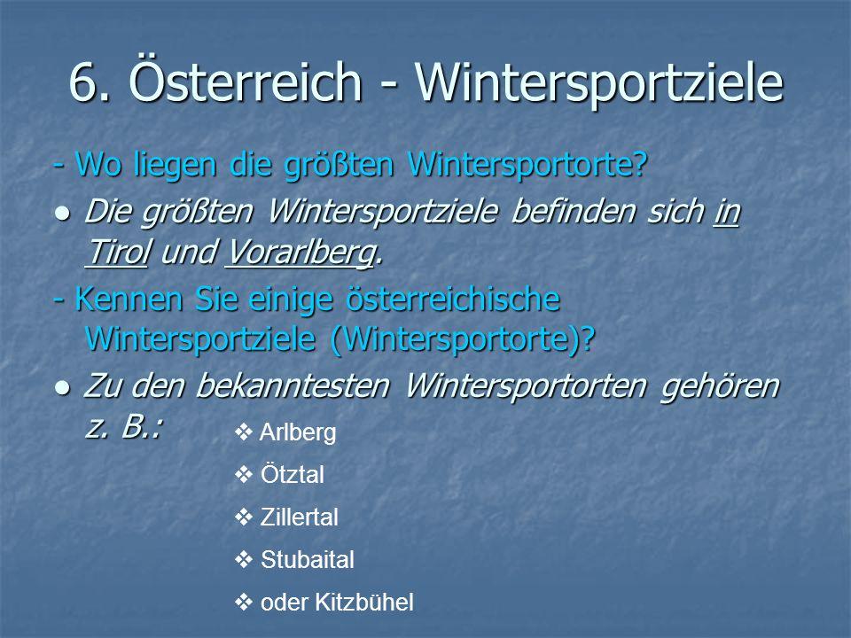 6. Österreich - Wintersportziele