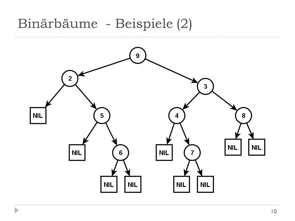 Binärbäume - Beispiele (2)
