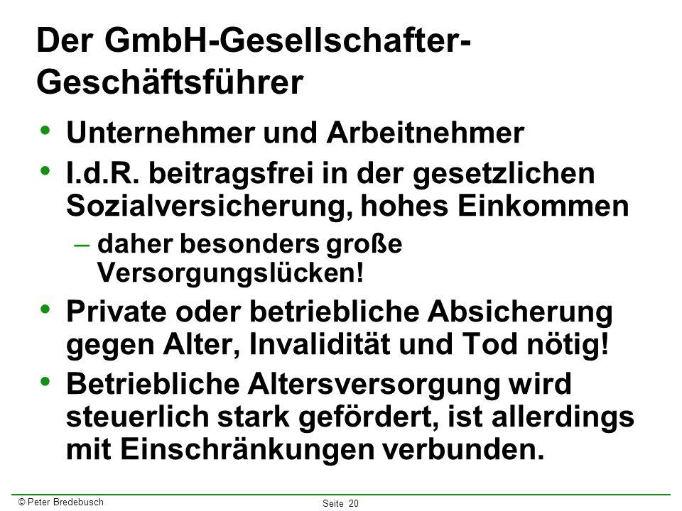 Der GmbH-Gesellschafter-Geschäftsführer