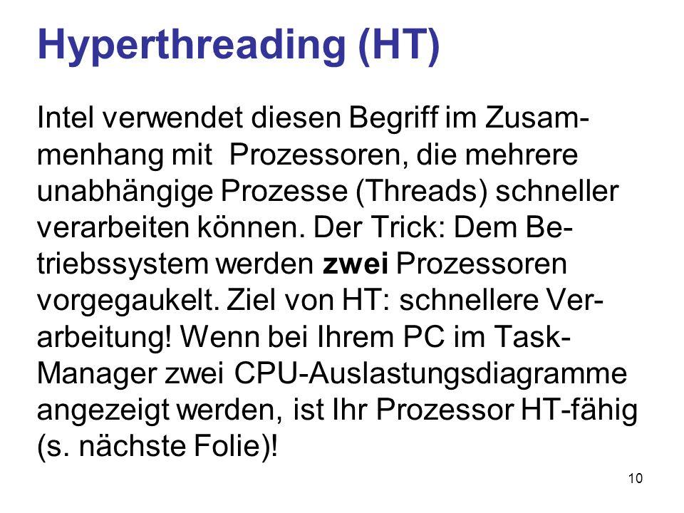 Hyperthreading (HT)