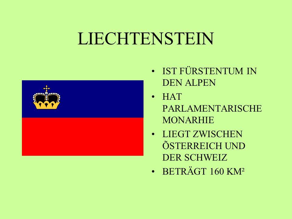 LIECHTENSTEIN IST FÜRSTENTUM IN DEN ALPEN