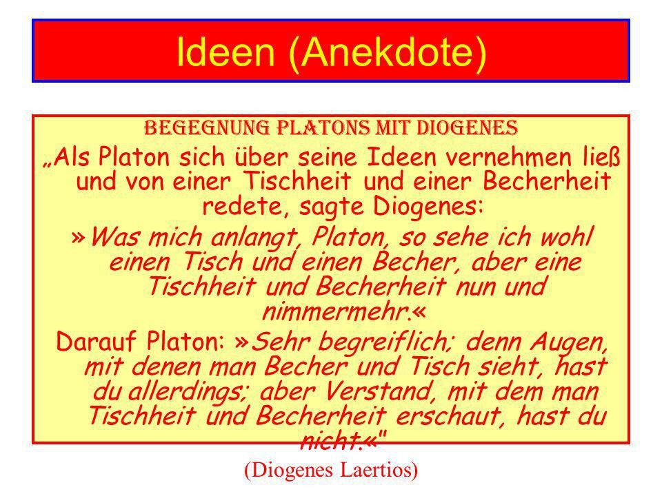 Begegnung Platons mit Diogenes
